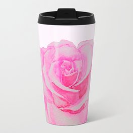 one pink rose Travel Mug