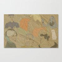 fifth element Canvas Prints featuring The Fifth Element by Itxaso Beistegui Illustrations