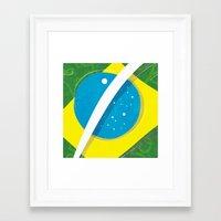 "brasil Framed Art Prints featuring ""BRASIL"" by Alejandro Mamán Pires"