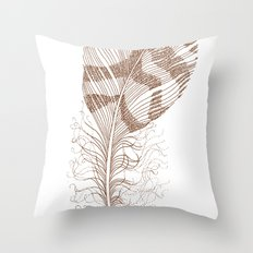 The Solitary Feather Throw Pillow
