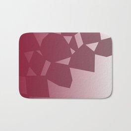 design blocks, cute  Red Bath Mat
