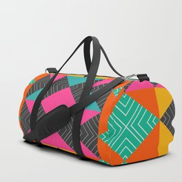 Bright multicolored shapes Duffle Bag