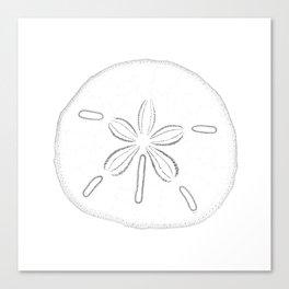Sand Dollar Blessings - Black on White Pointilism Art Canvas Print
