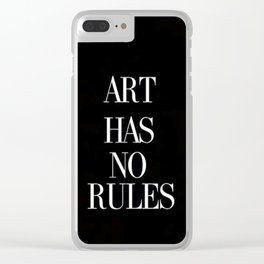 No Rules Clear iPhone Case