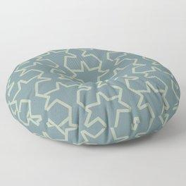 Aqua Green Geometric Tessellation Pattern 15V2 2021 Color of the Year Aegean Teal Salisbury Green Floor Pillow