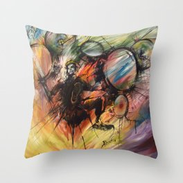 Magnetic North Throw Pillow