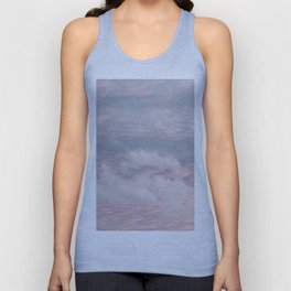 Cloud layers of Pink Unisex Tank Top