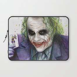 Joker Why So Serious Watercolor Laptop Sleeve