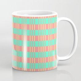 Basketwork Pattern Pastel Colors Coffee Mug
