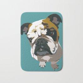 American Bulldog, Dark Teal Bath Mat