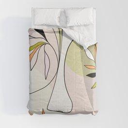 Growing Nature - Girl portrait #selflove Comforters