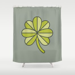 Seven-Leaf Clover Shower Curtain