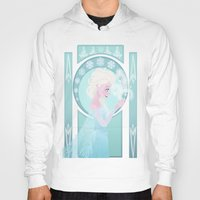 elsa Hoodies featuring Elsa by Shelby Wolf