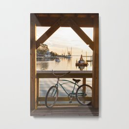 Shem Creek Bike Metal Print