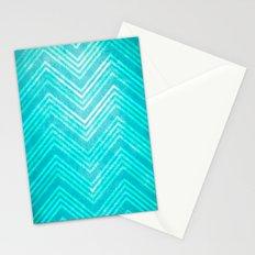 Blue Chevron Stationery Cards