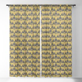 Nuclear Yellow & Black Nuke Sign Sheer Curtain