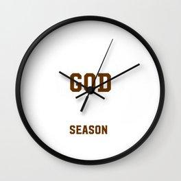 Thank God for Hunting Season Graphic T-shirt Wall Clock
