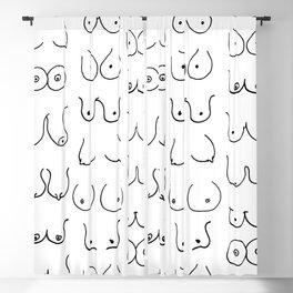 Boobies Sketch Blackout Curtain