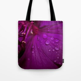 Royal Princess flower macro with water droplets - Floral Photography #Society6 Tote Bag