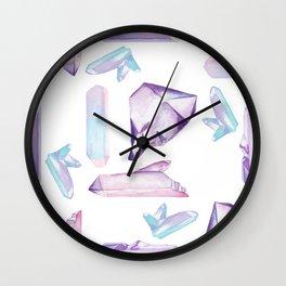 Mystical Crystal Pattern by Elizabeth Caparaz Wall Clock