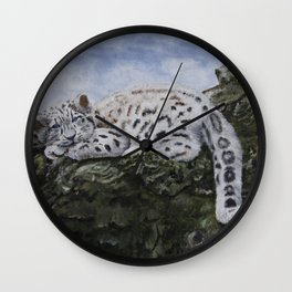 Blue Eyes by Teresa Thompson Wall Clock