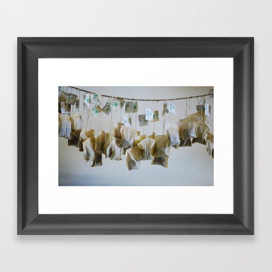 Tea bags #1 Framed Art Print