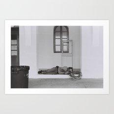 Rest in Santorini Art Print
