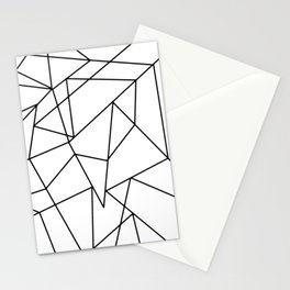 Simple Modern Black and White Geometric Pattern Stationery Cards