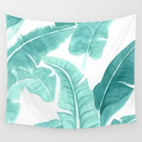 palms Wall Tapestries featuring Palms by Christine Khoury Illustrations
