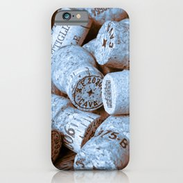 BLUE CHAMPAGNE CORK iPhone Case
