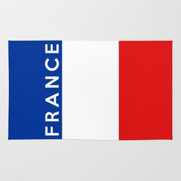 france country flag name text Rug