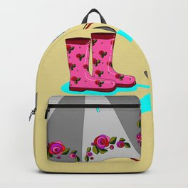 The Beauty of A Rainy Day with Beige Background Backpack