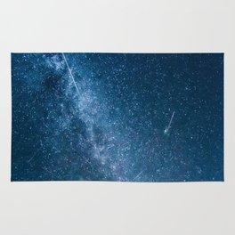 Perseid meteor shower Rug