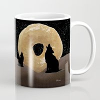 howl Mugs featuring Donut Howl by Geni