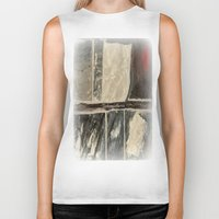 marble Biker Tanks featuring Textured Marble by Corbin Henry