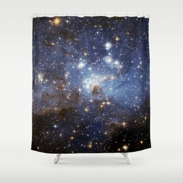 LH 95 stellar nursery in the Large Magellanic Cloud (NASA/ESA Hubble Space Telescope) Shower Curtain
