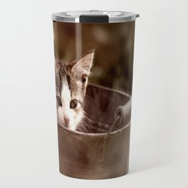 Kitten in tub Travel Mug