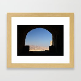 View from Karak Castle, Jordan Framed Art Print