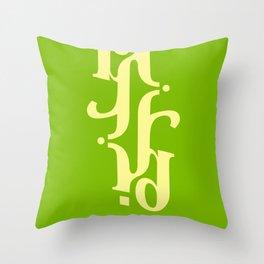 Type Foundry - Cambria Bold Italic Throw Pillow
