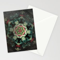 Dark forest mosaic kaleidoscope Stationery Cards