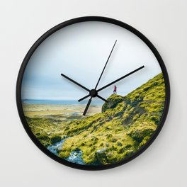 He Found the River's Valley (Color) Wall Clock