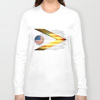american Long Sleeve T-shirts featuring American by ilustrarte