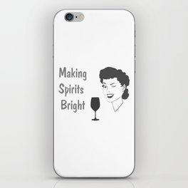 Making Spirits Bright Holiday iPhone Skin