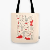 bunnies Tote Bags featuring Bunnies by Jay Fleck