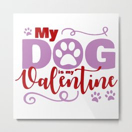 Dog Valentine Metal Print