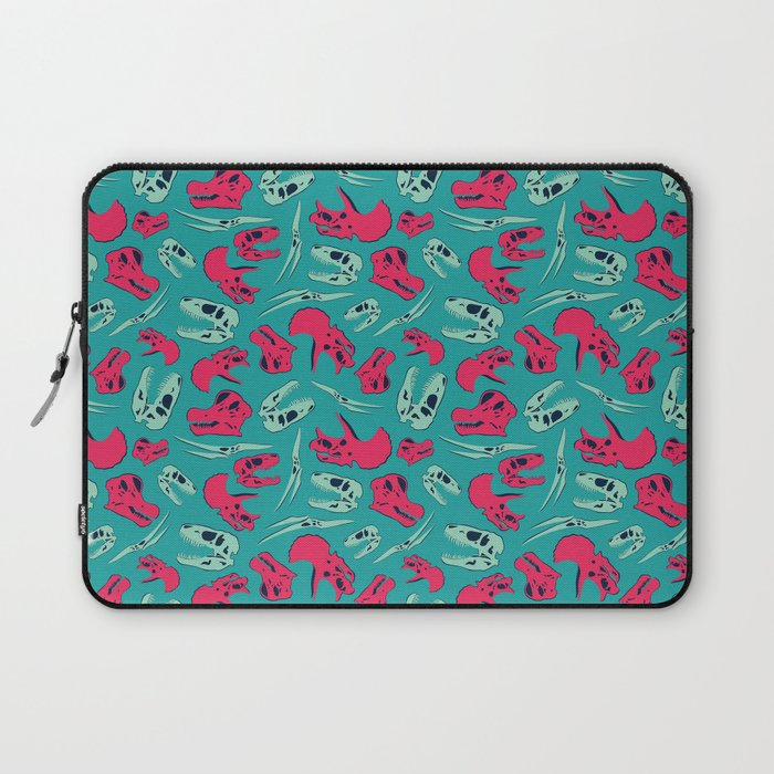 Skull Roll - Teal & Red Laptop Sleeve
