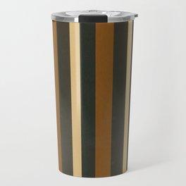 Classic Brown and Beige Stripes  Travel Mug