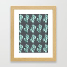 Palm Leaves Pattern #8 #Mint #CoolGray #decor #art #society6 Framed Art Print