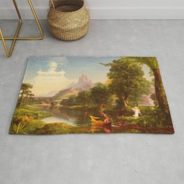Thomas Cole - The Voyage of Life Youth, 1842 Rug