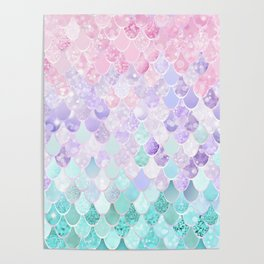 Mermaid Pastel Iridescent Poster